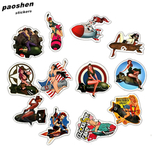12 Pcs Self-adhe Pvc Waterproof post Beauty Girls Stickers For Laptop Motorcycle Skateboard Luggage Decal Office Toy Appliances(China)