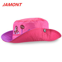 [JAMONT]cute car printed children bucket hat boys and girls summer sun hat ultrathin breathable sunshade caps pink snapback caps(China)