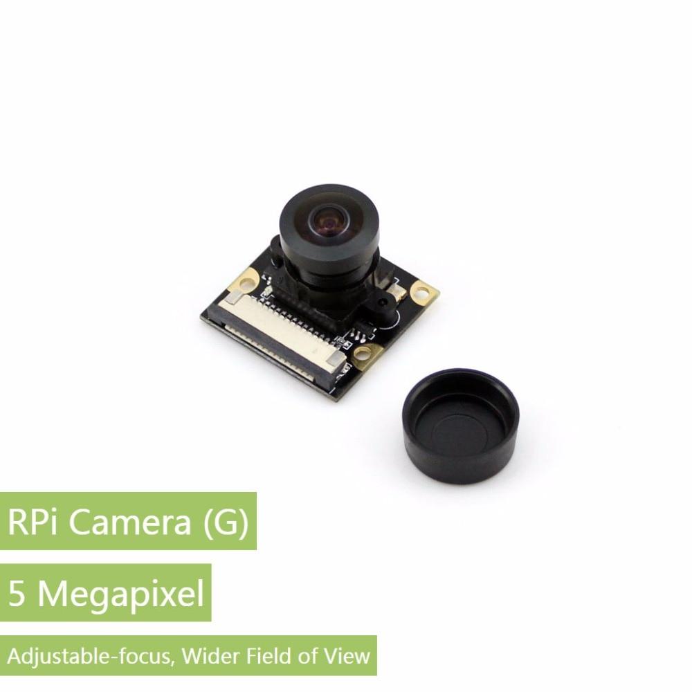 Parts Raspberry Pi Camera Module Supports all Rev. of RPi 5 Megapixel OV5647 Sensor Adjustable Focal Fisheye Lens<br>