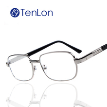 TenLon Glasses Alloy Crystal Lens Square Women Reading Glasses Men Fashion High Quality oculos de grau gafas de lectura