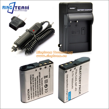 4-In-1 NP-40 CNP40 Digital Battery 2x & Travel Charger & Car Charger Adapter for Casio Cameras 55 57 Z100 Z300 Z400 Z450 FC100(China)