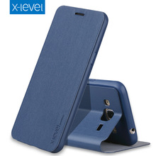 X-Level Luxury Business PU Leather Case for Samsung Galaxy J3 2016 j320 Flip Cover for Samsung j3 6/J320F/J320A/J320H Cases Capa(China)