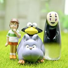 1Pcs/set Miyazaki Anime Spirited Away No Face Figure Kawaii No Face Chihiro Little Mouse PVC Action Figure Collection Model Toy