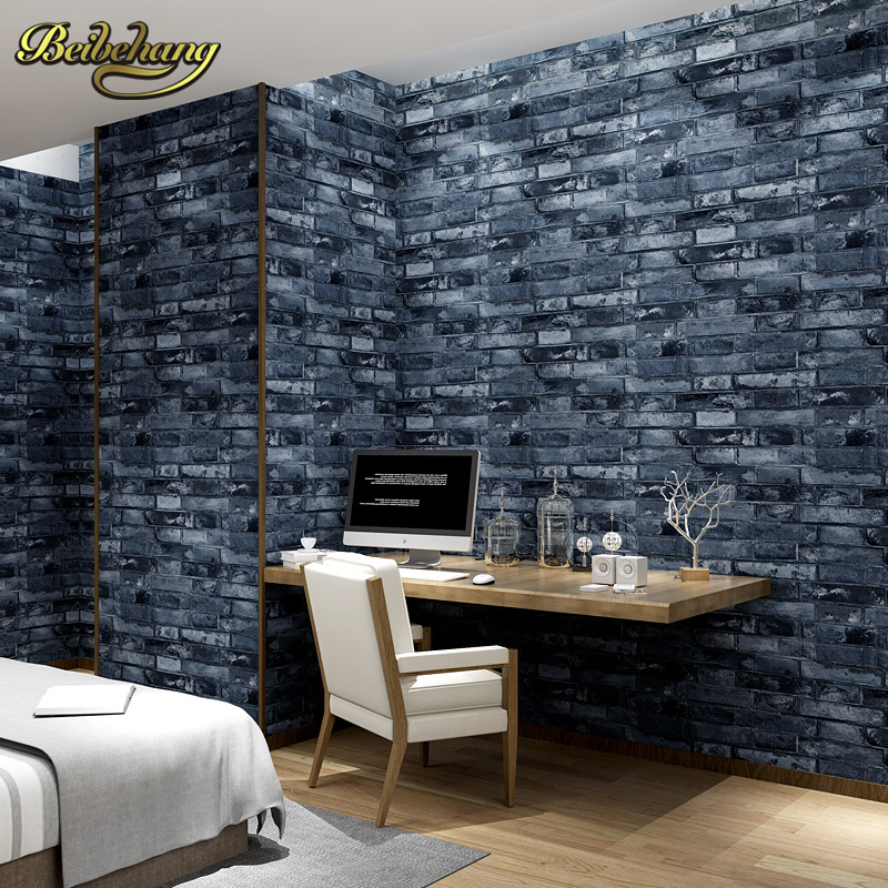 beibehang Chinese retro brick wallpaper pattern perspective antique brick wall paper backdrop Cafe Hotel papel de parede<br>