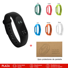 Xiaomi Miband2 Colorful strip with Screen protector Pulse Smartband OLED Display Heart Rate Monitor Sport Fitness Smart Bracelet