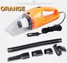 Orange Auto Accessories Portable 5M 120W 12V Car Vacuum Cleaner Handheld Mini Super Suction Wet And Dry Dual Use Vaccum Cleaner