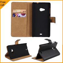 Luxury High Quality Wallet Genuine Leather Case For Nokia Lumia 535 Microsoft Lumia 535 Cell Phone Cover With Credit Card Holder(China)