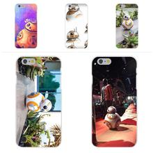 Starwars Bb-8 Droid Robot Star Wars Bb8 For Apple iPhone 4 4S 5 5C SE 6 6S 7 7S Plus 4.7 5.5 Soft TPU Silicon Capa Case