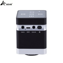 ADIN 26W Bluetooth Speaker Wireless Vibration Speakers Metal AUX Hifi Speakers Bluetooth Portable For Phones Computers MP3 MP4