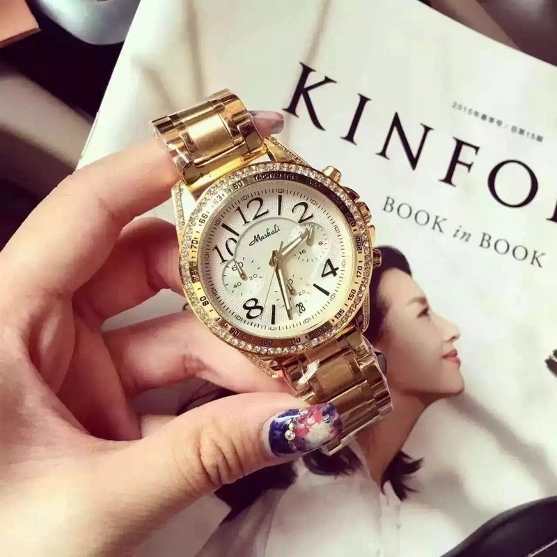 2016 Montre Femme Relojes De Marca Mujer Fashion Casual Wristwatch Top Quality Brand Luxury Women Ladies Clock Gold Wrist Watch<br>