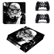 Star Wars #2 Vinyl Decal PS4 Slim Skin Stickers Wrap for Sony PlayStation 4 Slim Console and 2 Controllers Decorative Skins
