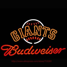 Neon Sign Budweiser SF Giants Large Neon Bulbs Decorated Handcrafted Store Display Neon Tubes Personalized Custom Art VD 19x15