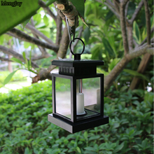 Traditional 1 PCS Solar Powered LED Outdoor Candle Lantern Outdoor Hang Lamp Home Garden Decoration Light Umbrella Lantern Light(China)