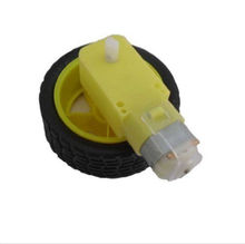 Hot Selling Smart Car Robot Plastic Tire Wheel with DC 3-6v Gear Motor For arduino USAB(China)