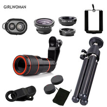Buy Girlwoman Smart Phone Lens Cell Phone Telescope Kit Iphone X 12x Zoom Xiaomi Camera Telescopio Para Celular S9 Lens for $9.98 in AliExpress store