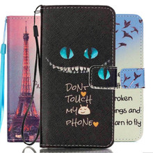 Fashion Print PU Leather Flip Cell Phone Case Cover For Samsung Galaxy J5 2016 J510 J510F J510M With Card Slots Hand Strap