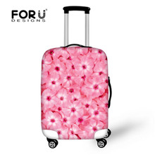 FORUDESIGNS Flower Printing Suitcase Cover 3D Cute Print Baggage Accessories Durable Super Elastic Luggage Cover Protector