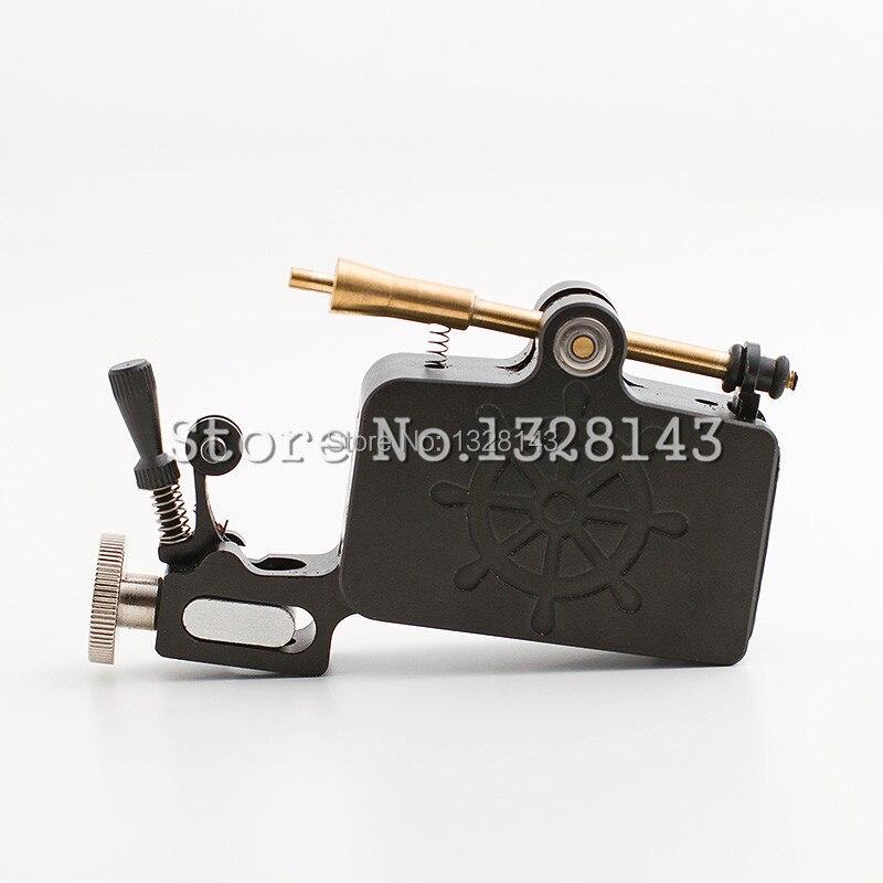 Newest Tattoo Gun Aluminium Captain Rotary Machine Liner Shader TATy High Quality Black for tattoo kit Free Shipping<br>