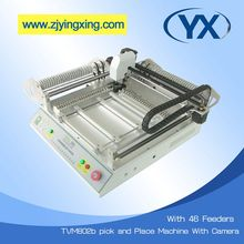 SMD Pick and Place Machine TVM802B For Electronic Components With 46 SMT Stick Feeders SMT Chip Mounter