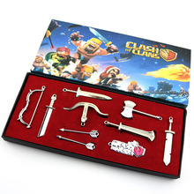 wholesale Game Juguetes Naruto One Piece WOW Weapon Set Keychain brooch Necklace Cosplay Props Pendant Action Figure Kids Toys