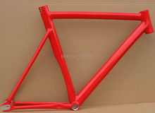 2015 Top Sale  Fixed Gear Bike Frame Custom size 59 cm, flat polished professional handmade Free shipping with EMS