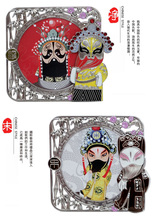 Unique Vintage Carved Picture Photo Frames Party Gifts Chinese Peking opera Metal Home Decorations with Boxes(China)