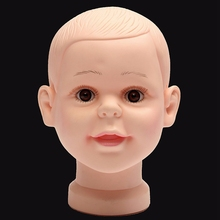 PVC Realistic Plastic Baby/kid Mannequin Dummy Head For Wig Hat Sunglass Display Manikin Heads