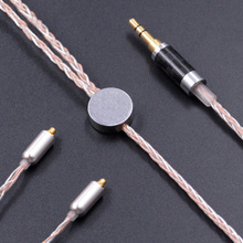 New NICEHCK MMCX/2Pin Interface 3.5/2.5mm Balanced 8-Core Copper Silver Mixed Cable Use For Shure SE846 KZ ZS5 ZS6 ZST Earphone