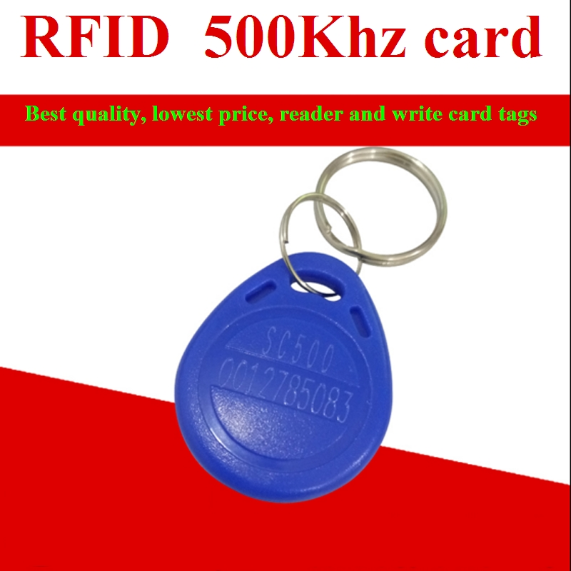 500khz RFID Tag Readable And Writable Proxmity Keyfobs Offset Frequency ID Card For Access Control<br>