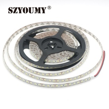 SZYOUMY 10M/lot IP65 Waterproof 3528 600 LED Strip Light Ribbon Tape 120led/m WarmWhite Cold White Blue Green Red LED stripe