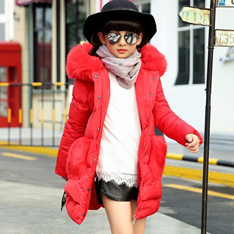 Kids girls winter padded jacket 2016 new baby girls fashion clothing big virgin warm coat 4/5/6/7/8/9/10/11/12/13/14 yearsÎäåæäà è àêñåññóàðû<br><br>