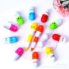 30pcs/lot new Office school supplies Retractable Ball point pen cartoon Telescopic face Capsule pills Pen(China)