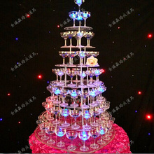 7 tier Wedding champagne tower wedding Supply props aryclic clear 7 layers Acrylic Goblet wine tower champagne tower