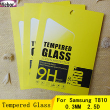 20PCS 0.3MM Round Edge Tempered Glass Screen Protector For Samsung T810 Tablet 9.7 inch Glass Protective Film +Retail Packing(China)