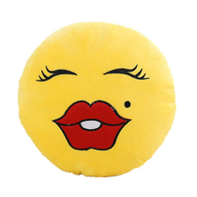 New Novelty Emoji cushion Design Soft Cushion Pillow Gift for Home Car Camping 7