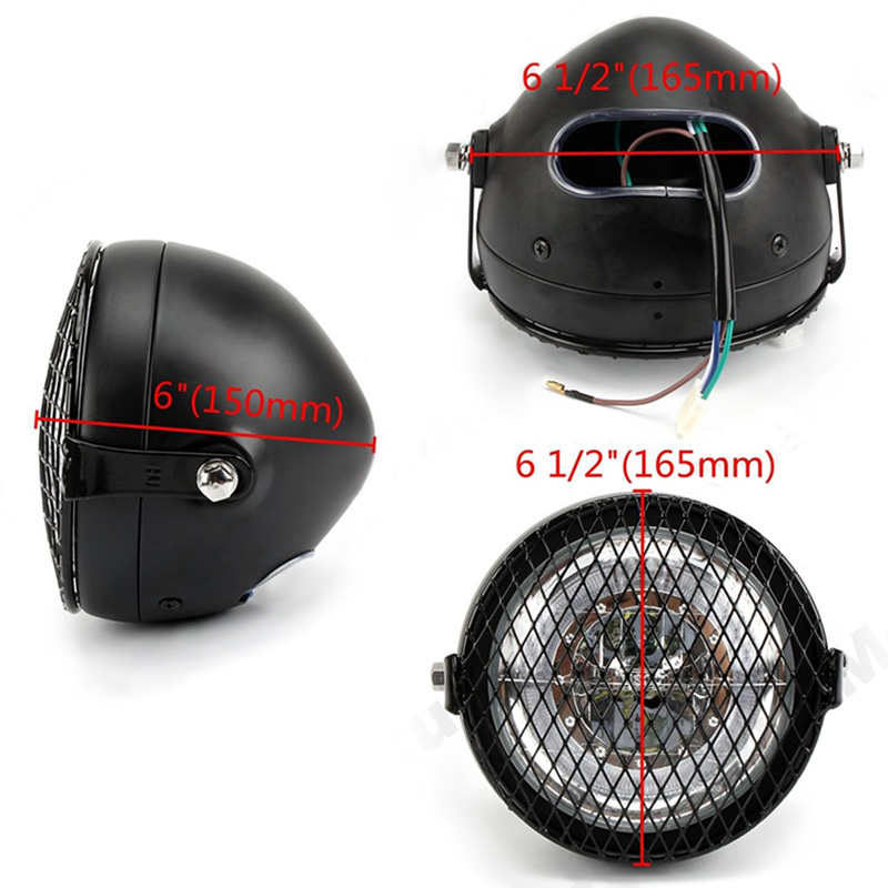New Arrival Motorcycle LED Headlight Head Lamp Bulb Hi/Lo For Harley Sportster Cafe Racer Bobber Motor With Bracket Cover