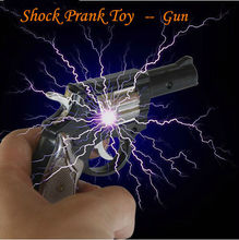 Elimi  Joke Gifts Electric Shock Toy Shock Gun Novelty  Electric Prank Toy Funny Goods Free Shipping