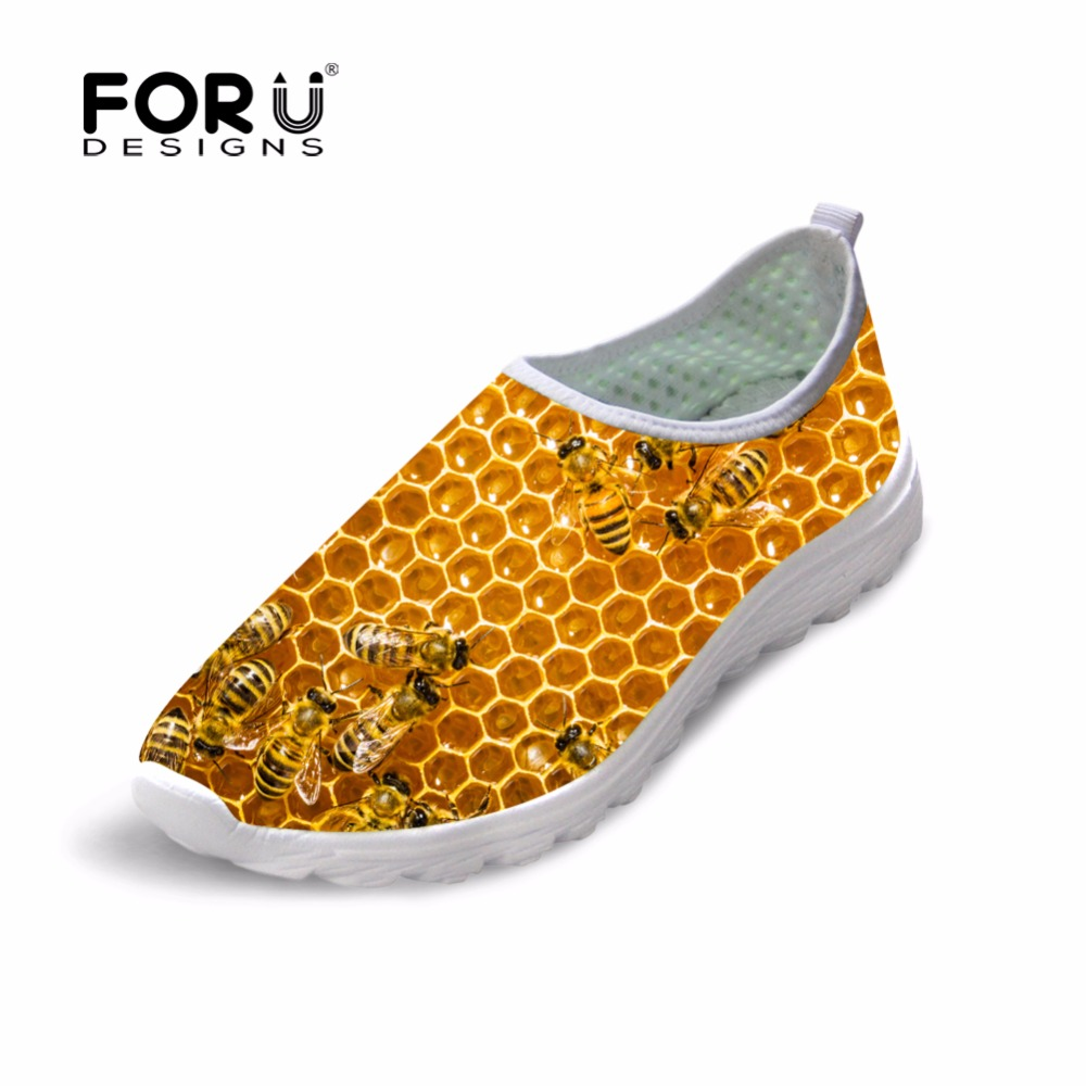 Mens Shoes Breathable Casual Shoes Animal Printing Male Mesh Shoes Leisure Walking Bee Pattern Flats Spring Summer Loafers Shoes<br><br>Aliexpress