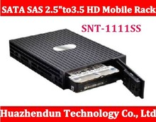 "SNT-1111SS Serial SATA SAS 2.5"" to 3.5'' HD Mobile Rack fits 3.5"" HDD Convertor for SATA & SAS HDD High Quality box(China)"