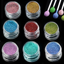 1 bottle Laser Shinning Pigment Nail Art Glitter Powder Dust Tips for Body Craft Polish Salon 3d Nail Art Decorations L01-16(China)