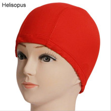 Helisopus Hat for Men Women Adults Swim Caps  Waterproof Polyester Protect Ears Sports Swim Pool Swimming Cap