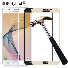 Tempered Glass for Samsung Galaxy J2 Prime G532F J5 Prime G570F J7 Prime G610F Color Full Cover Screen Protector Film Phone Case(China)