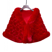 Top Design Warm Thick Red Faux Fur Bridal Shawls Jacket Wedding Bolero Wraps Bridal Accessories Cape Coat faux fur stole