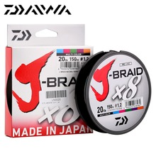 16 Original DAIWA J-BRAID X8 150M Multicolor 8 Strands PE Fishing Line Monofilament Fishing Line 14-20LB Made in Japan(China)