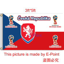 2018 Russia Football World Cup Czech Republic National Team 3ft*5ft (90*150cm) Size Decoration Flag Banner