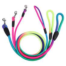 Rainbow Color Pet Dog Traction Rope Puppy Training Nylon Belt Pets Leads Collars S M L
