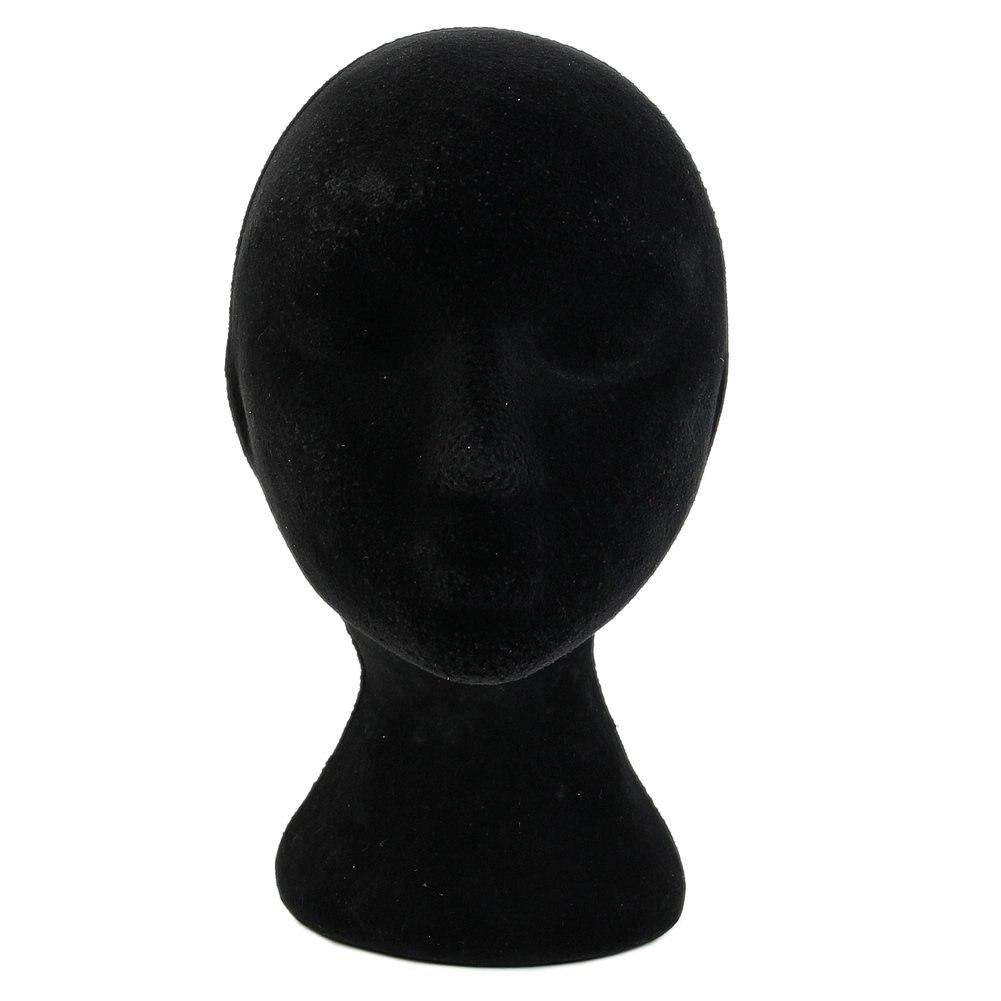 Female Styrofoam Foam Mannequin Manikin Head Model Wigs Glasses Display Stand Black