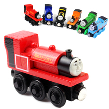 thomas and friends toys wooden toys thomas train Magnetic Wooden Model Train for baby children Kids toys for children 6 Colors(China)