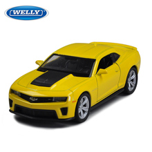 Children Kids Welly Welly Chevrolet Camaro Zl1 Model Car 1:36 Diecast Metal Alloy Cars Toy Pull Back Gift Original Box