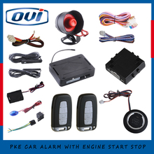 PKE Car Alarm Car keyless go push button engine start stop system kit for all car, remote start /stop with Smart button(China)